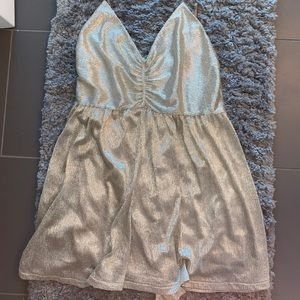 Urban Outfitters Gold Shimmer Romper